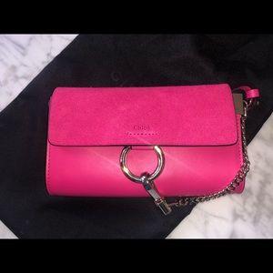 Chloe Bags - Authentic Chloe Mini Faye bag hot pink 💕